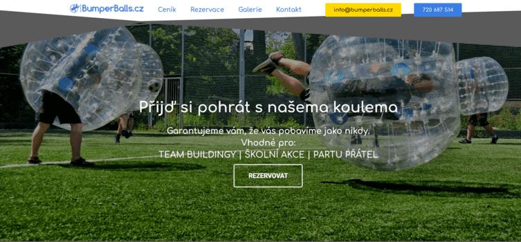 Bumperballs | eSoul tvoří a optimalizuje webové stránky