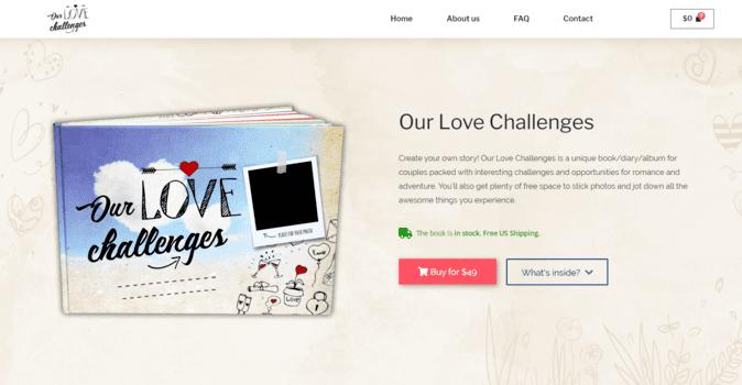 Our Love Challenges | eSoul tvoří a optimalizuje webové stránky