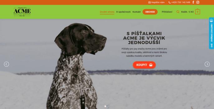 Píšťalky ACME | eSoul tvoří a optimalizuje webové stránky