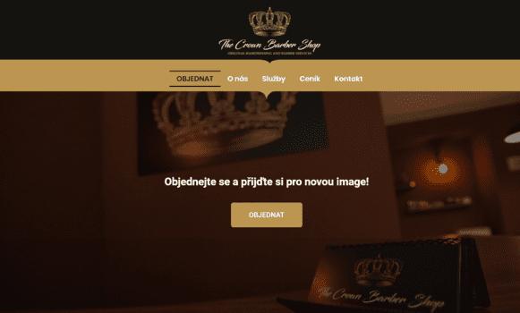 The Crown Barber Shop | eSoul tvoří a optimalizuje webové stránky