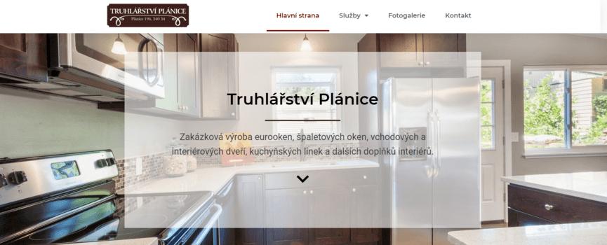 Truhlářství Plánice | eSoul tvoří a optimalizuje webové stránky