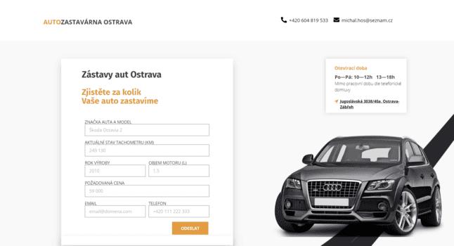 Zástavy aut Ostrava | eSoul tvoří a optimalizuje webové stránky